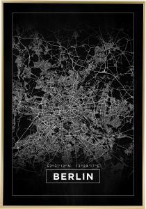 Map - Berlin - Black Poster