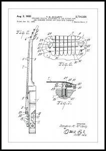 Patentzeichnung - E-Gitarre II Poster