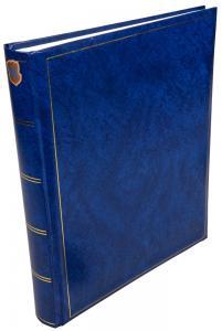Henzo Basic Line Fotoalbum Blau - 30x36 cm (80 weiße Seiten / 40 Blatt)