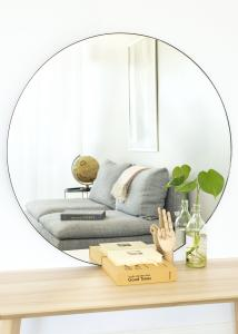 KAILA Round Mirror - Thin Black 100 cm Ø