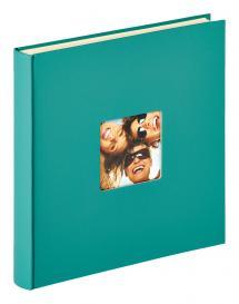 Fun selbstklebend Grün - 33x34 cm (50 weiße Seiten / 25 Blatt)