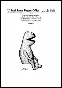 Patentzeichnung - Die Muppets - Kermit I Poster