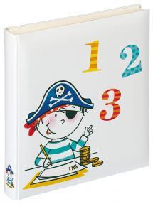 Kinderalbum Pirat Schule - 28x30,5 cm (50 weiße Seiten / 25 Blatt)
