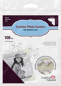 3L Creative Photo Corners Weiß - 108 St.