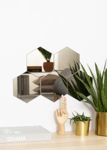 KAILA Spiegel Hexagon Dark Bronze 18x21 cm - 5er-Pack