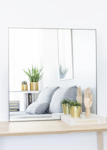KAILA Square Mirror - Thin Black 80x80 cm