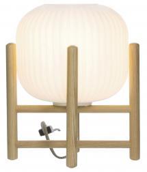 Tischlampe Vinda Klein - Holz/Weiß