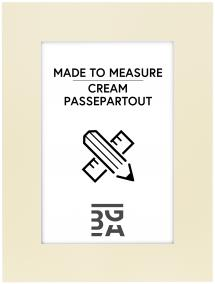 Passepartout Creme (Weiß kärna) - Maßgefertigt