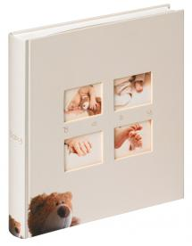 Classic Bear Kinderalbum Creme - 28x30,5 cm (60 weiße Seiten / 30 Blatt)