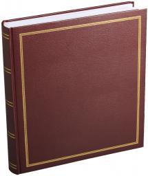 Diamant Fotoalbum Weinrot 27,5x32 cm (100 weiße Seiten / 50 Blatt)