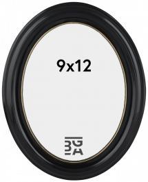 Eiri Mozart Oval Schwarz 9x12 cm