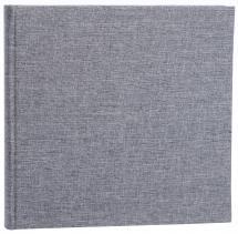Base Line Canvas Grau 26x25 cm (40 weiße Seiten / 20 Blatt)