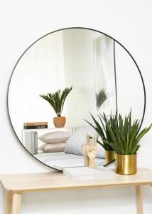 KAILA Round Mirror - Edge Black 110 cm Ø