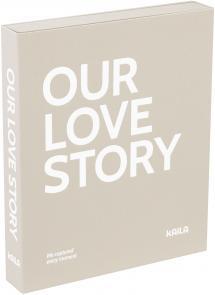 KAILA OUR LOVE STORY Grey - Coffee Table Photo Album (60 Schwarze Seiten)