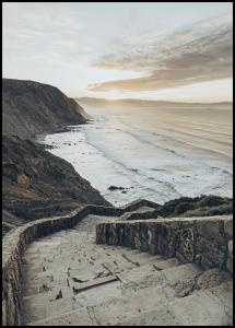 Stairs to the ocean Poster