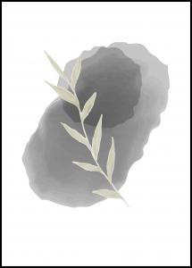 Painted Leaf I Poster