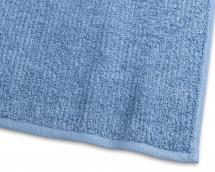 Gästehandtuch Stripe Frottee - Mittelblau 30x50 cm