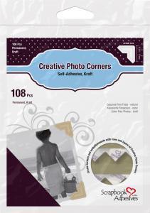 3L Creative Photo Corners Braun - 108 St.