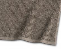 Gästehandtuch Stripe Frottee - Braun 30x50 cm