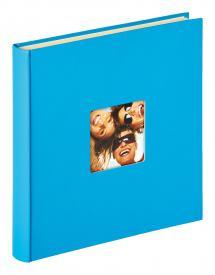 Fun selbstklebend Meerblau - 33x34 cm (50 weiße Seiten / 25 Blatt)