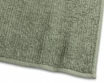 Gästehandtuch Stripe Frottee - Grün 30x50 cm