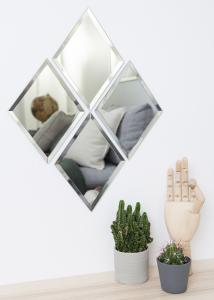 Spiegel House Doctor Diamond Klar 16x22 cm