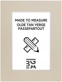 Passepartout Olde Tan Verge 3 mm (Weißer Kern) - Maßanfertigung