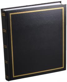 Diamant Fotoalbum Schwarz 27,5x32 cm (100 weiße Seiten / 50 Blatt)
