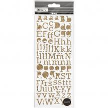 Focus Glitter Sticker Gold Letters