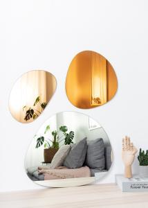 Spiegel Set Orange, Rose Gold & Clear - 3 Stk.