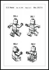 Patentzeichnung - Lego II Poster