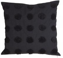 Dot Kissenbezug Schwarz 50x50 cm