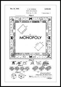 Patentzeichnung - Monopoly I Poster