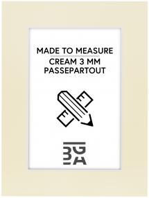 Passepartout Creme 3 mm (weißer Kern) - Maßgefertigt