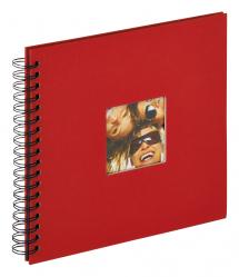 Fun Spiralalbum Rot - 26x25 cm (40 schwarze Seiten / 20 Blatt)