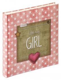 Little Babyalbum Girl Rosa - 28x30,5 cm (50 weiße Seiten / 25 Blatt)