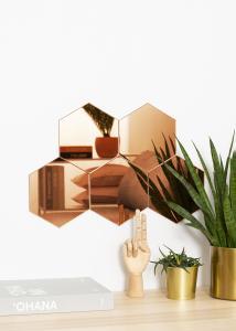 KAILA Spiegel Hexagon Rose Gold 18x21 cm - 5er-Pack