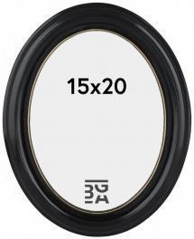 Eiri Mozart Oval Schwarz 15x20 cm