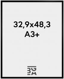 Rahmen New Lifestyle Acrylglas Schwarz 32,9x48,3 cm (A3+)