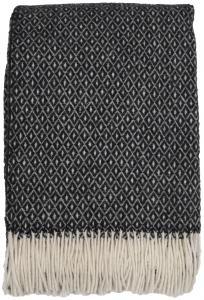 Plaid Shetland - Schwarz/Weiß 130x170 cm