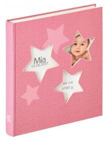 Estrella Babyalbum Rosa - 28x30,5 cm (50 weiße Seiten / 25 Blatt)