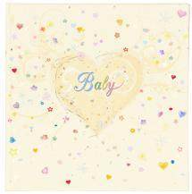 Premium Babyalbum - 25x25 cm (50 weiße Seiten / 25 Blatt)